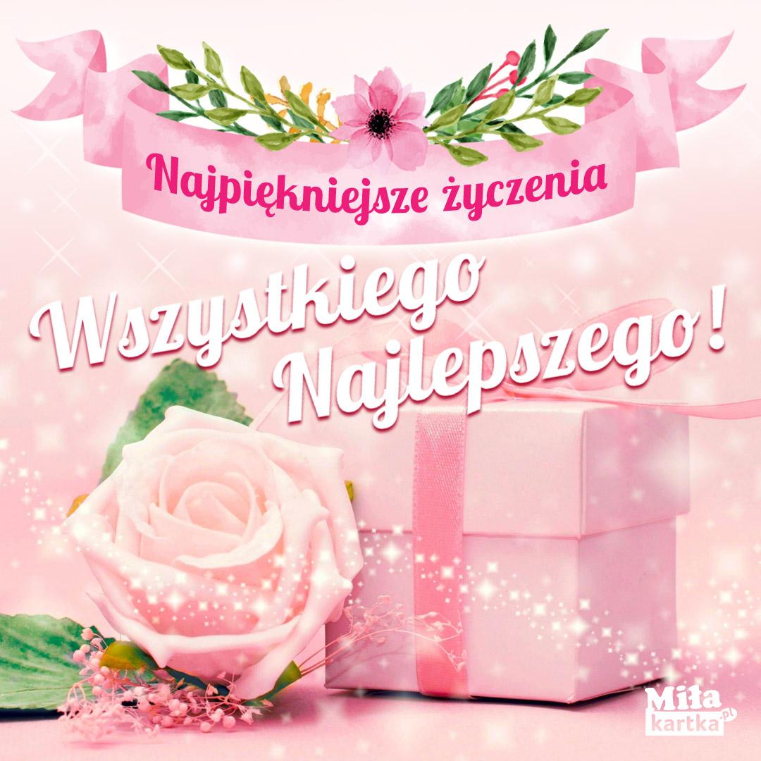 Kartka Wszystkiego najlepszego z okazji urodzin.