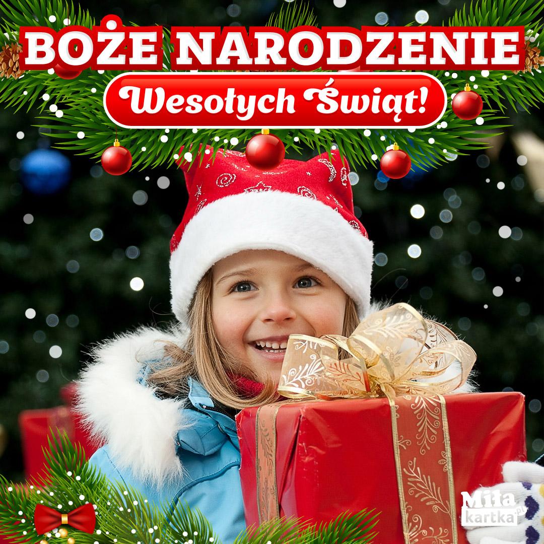 Kartka życzenia na Boże Narodzenie.