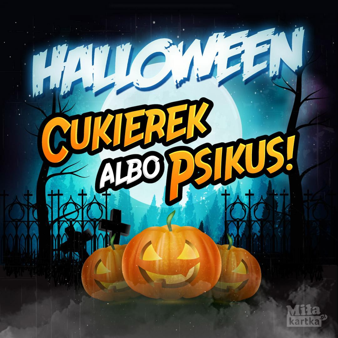Halloweenowe zabawy. Cukierek albo psikus!