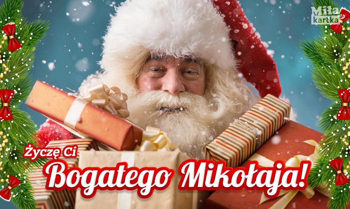 E-kartka Życzę ci bogatego Mikołaja