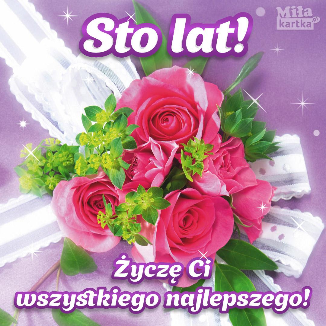 Sto Lat! Róże urodzinowe