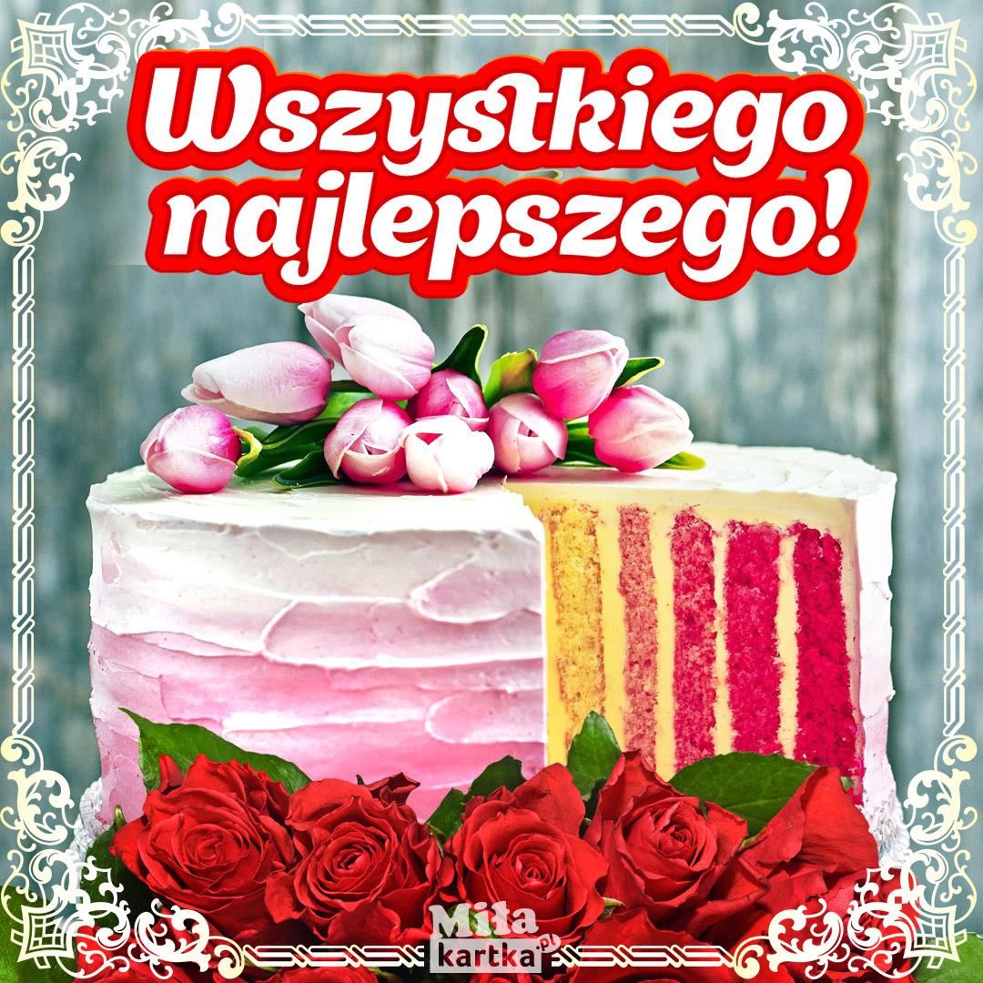 Kolorowy urodzinowy torcik