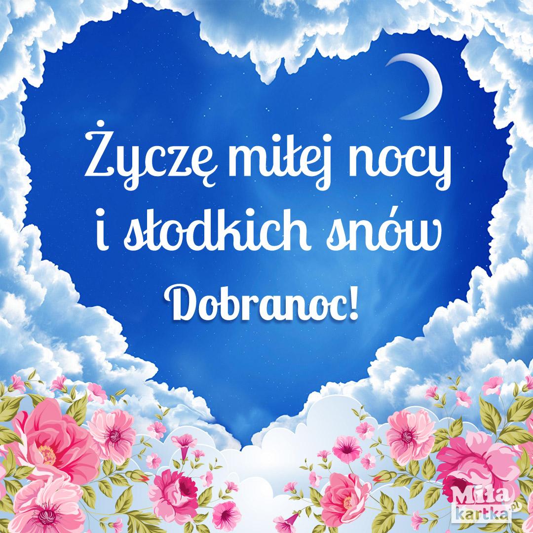 Kartka z sercem – Słodkich snów!