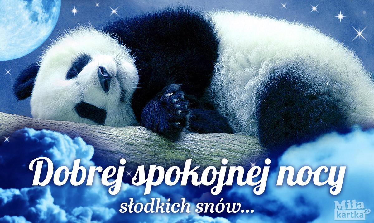 Pocztówka z pandą na Dobranoc