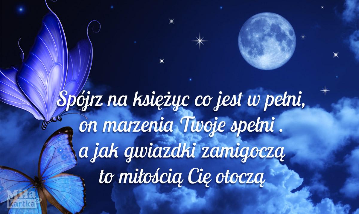 Kartka na dobranoc księżyc