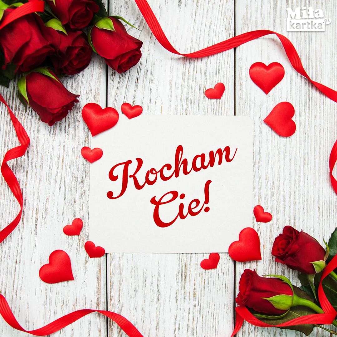 Kartka z Różami Kocham Cię!
