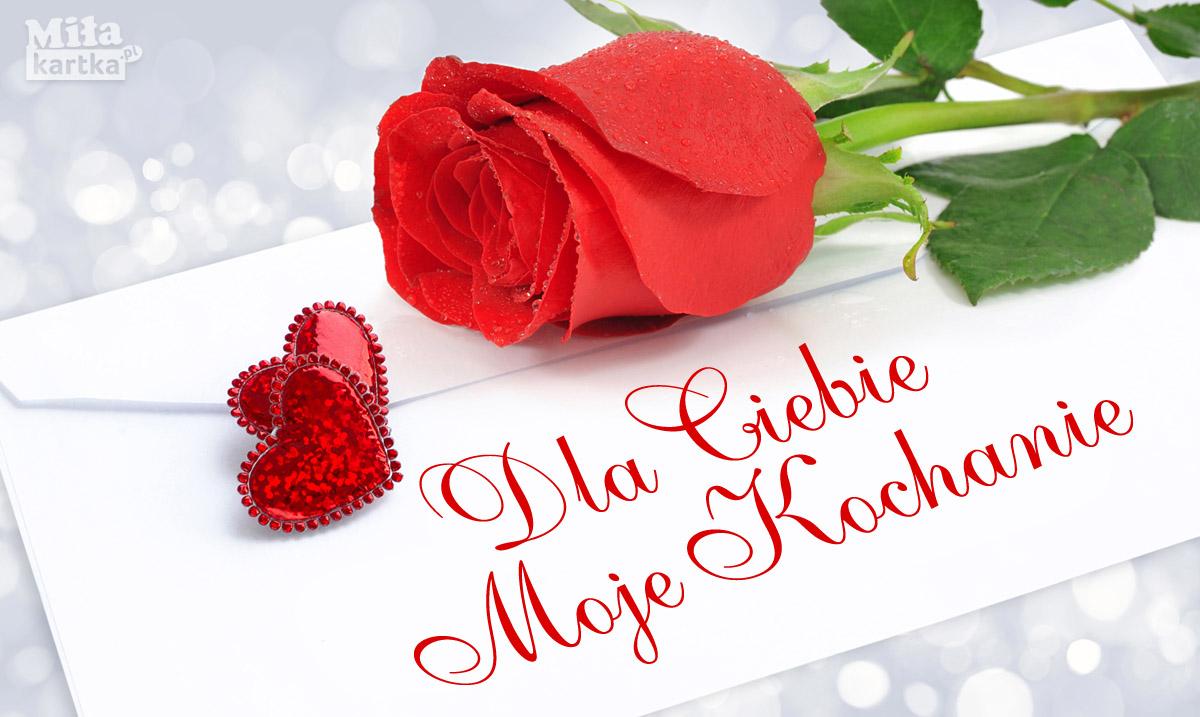 Róża dla Ciebie Moje Kochanie