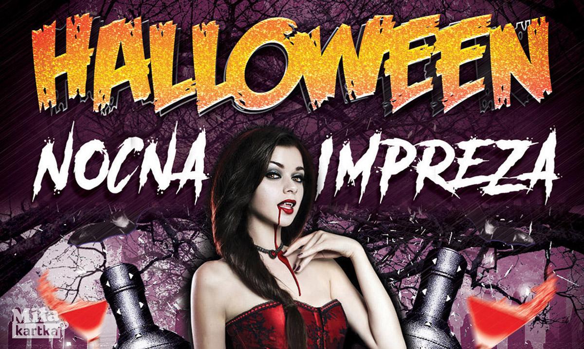 Zaproszenie na imprezę Halloween!
