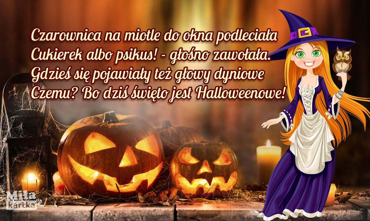 Czarownica życzy wesołego Halloween!