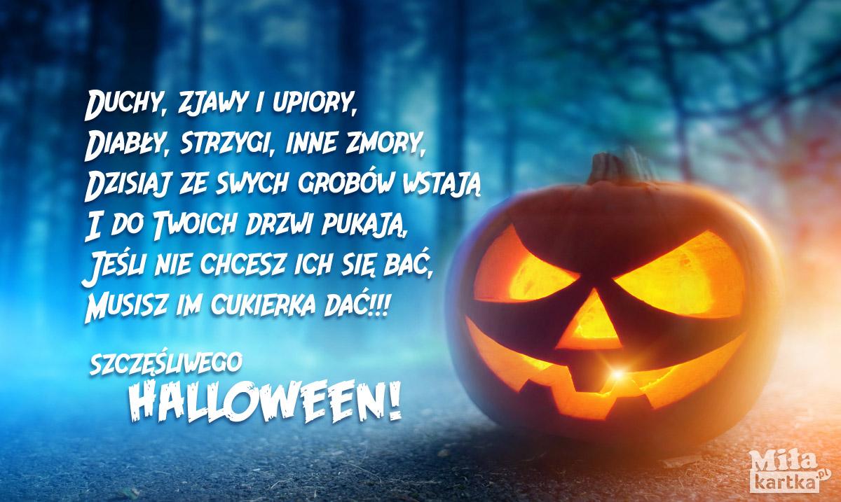 Straszna dynia halloweenowa. Boo!