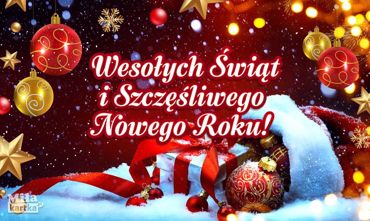 Boże Narodzenie. Serdeczne życzenia na Nowy Rok!