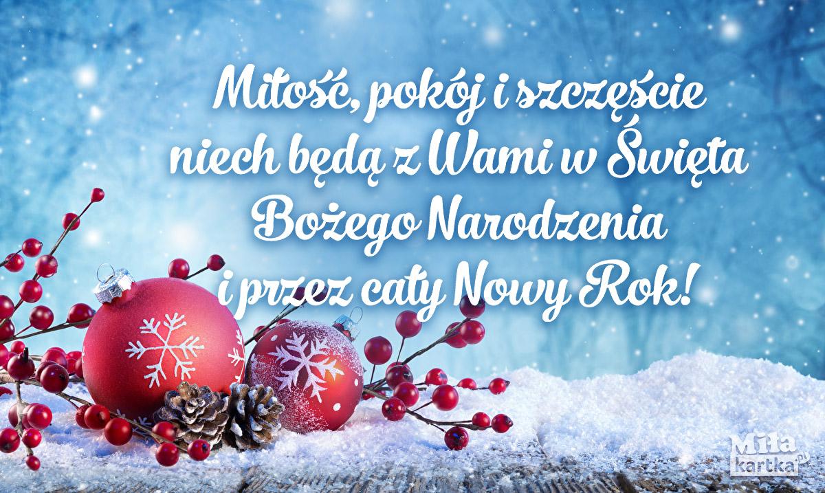 Kartka świąteczna na Boże Narodzenie i Nowy Rok.