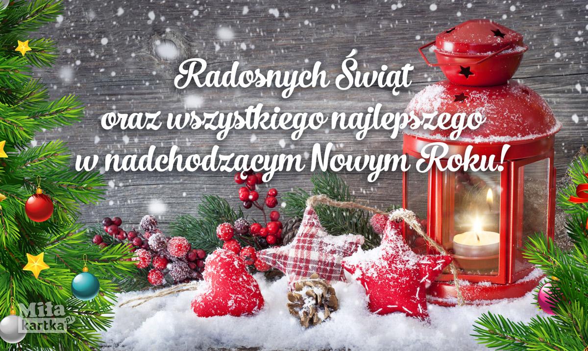 Radosnych Świąt! Wszystkiego najlepszego!
