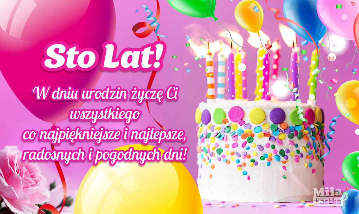 W dniu Urodzin dla Ciebie! Sto lat!