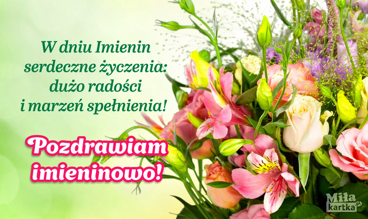 Imieninowe życzenia dla Ciebie!