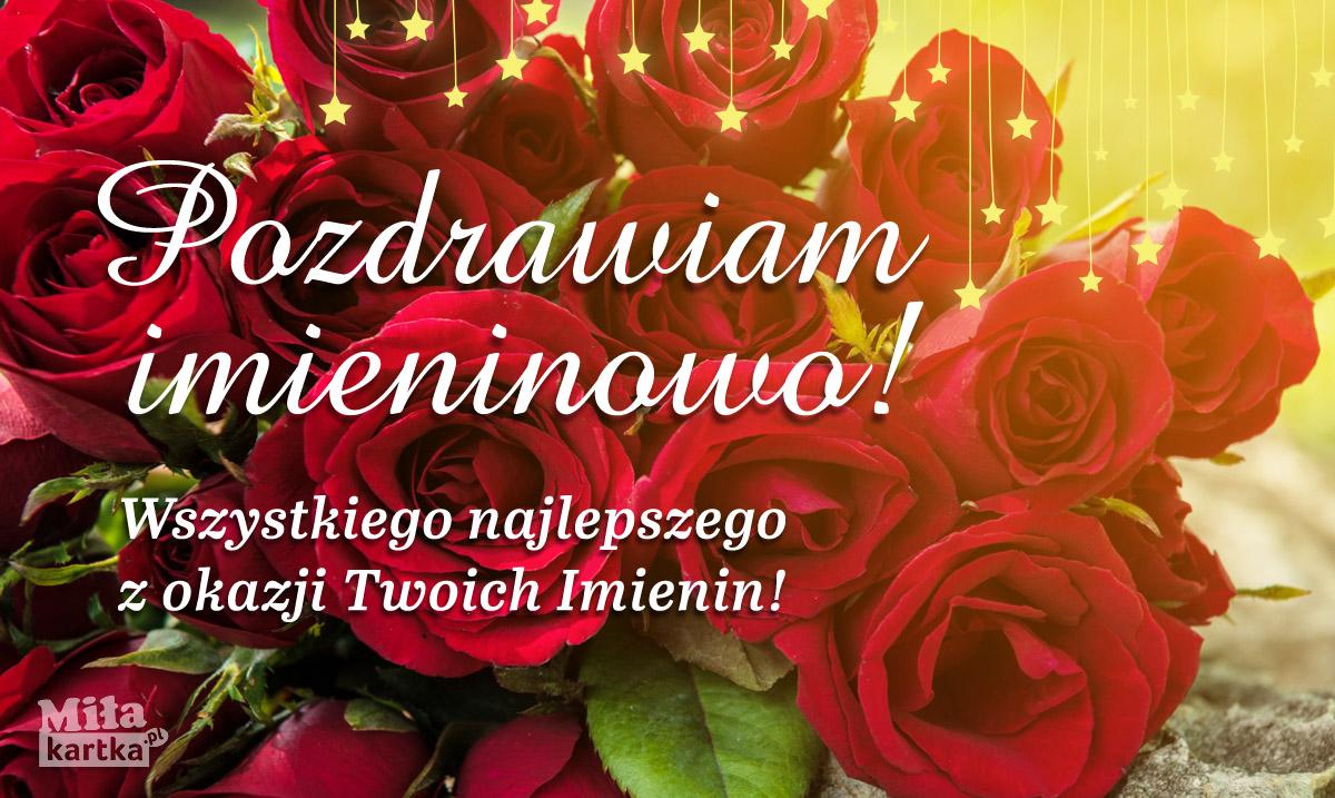 Pozdrawiam Imieninowo i składam najlepsze życzenia!