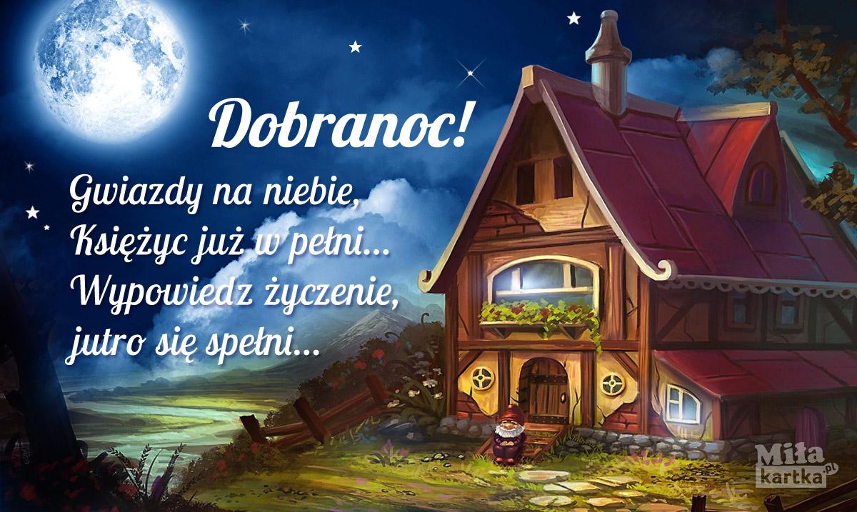 Gwiazdy na niebie, kartka na Dobranoc dla Ciebie!